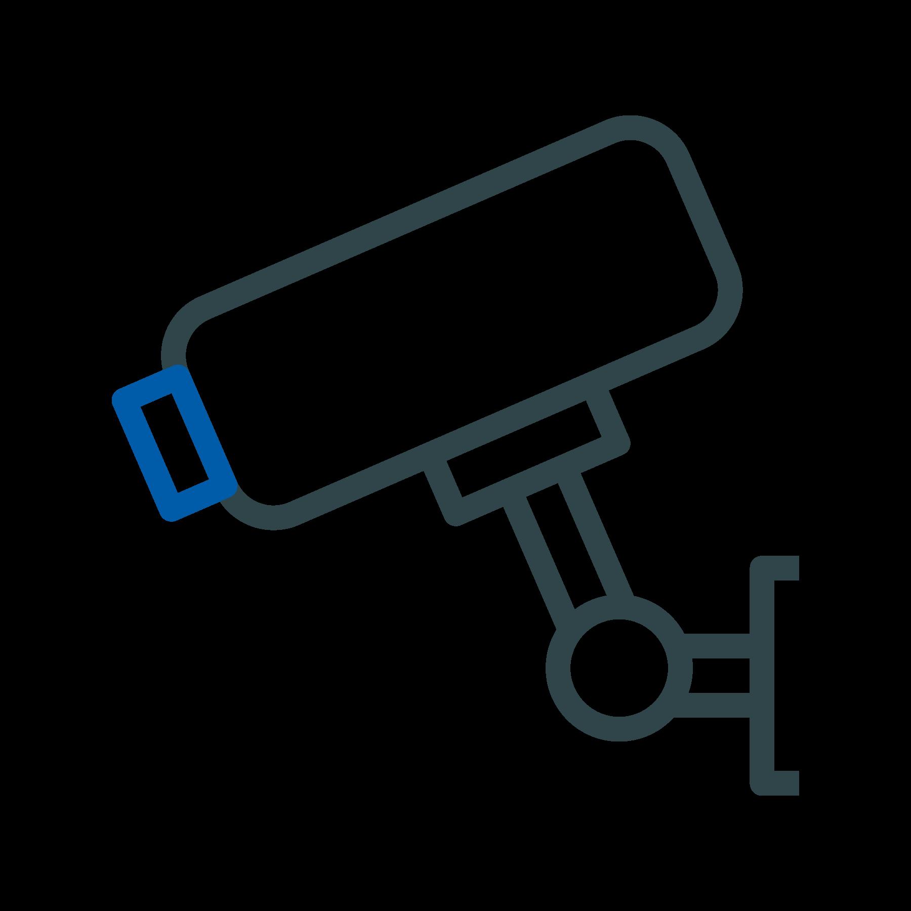 Icon Videoüberwachung weiß